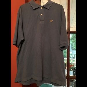 2XL Blue Collared Lacoste Shirt 7/10 Condition